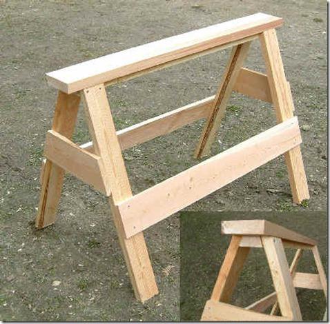 wooden sawhorse plan