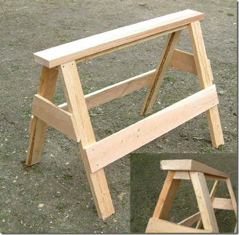 Download Wood Sawhorse Plans Free Woodworking Shop Ideas