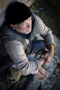Homeless man on the street
